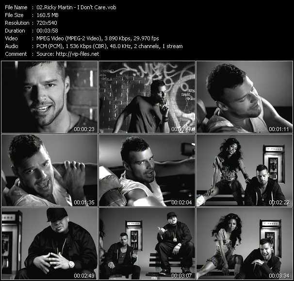 Ricky Martin video - I Don't Care