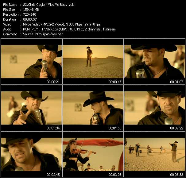 Chris Cagle video - Miss Me Baby