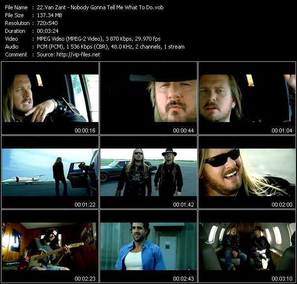 Van Zant video - Nobody Gonna Tell Me What To Do