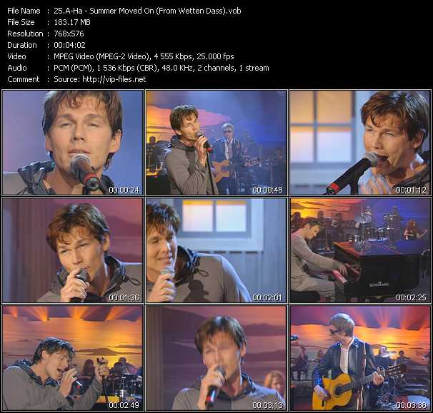 A-Ha video - Summer Moved On (From Wetten Dass)