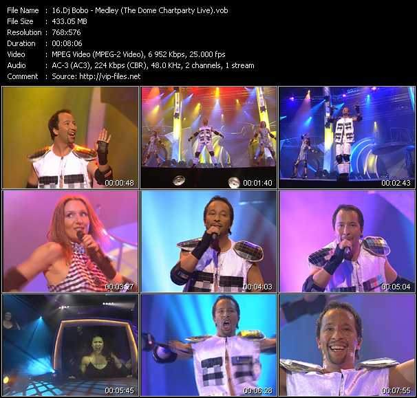Dj Bobo video - Medley (There Is A Party - It's My Life - What A Feeling - Pray) (The Dome Chartparty Live)