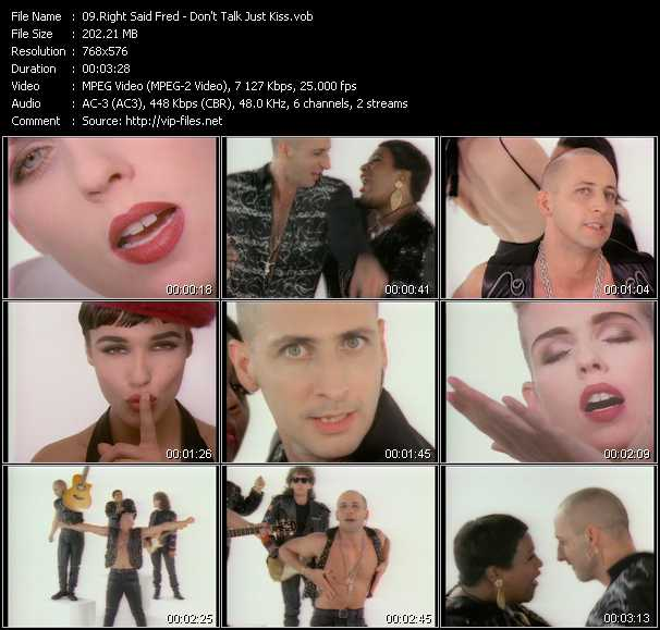 Right Said Fred video - Don't Talk Just Kiss