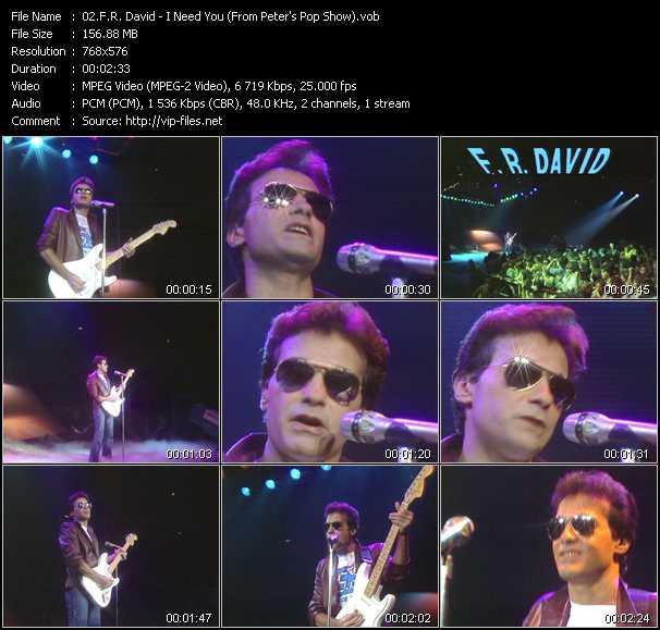 F.R. David music video Publish2