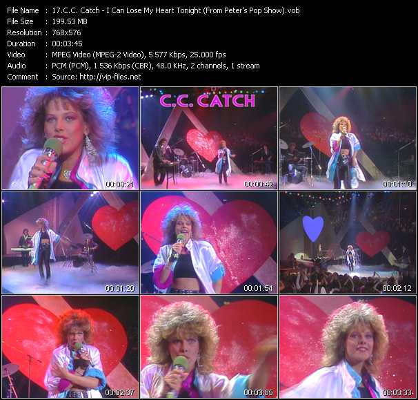 C.C. Catch video - I Can Lose My Heart Tonight (From Peter's Pop Show)