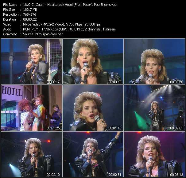 C.C. Catch video - Heartbreak Hotel (From Peter's Pop Show)