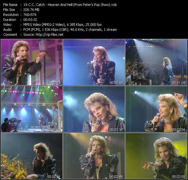 C.C. Catch video - Heaven And Hell (From Peter's Pop Show)