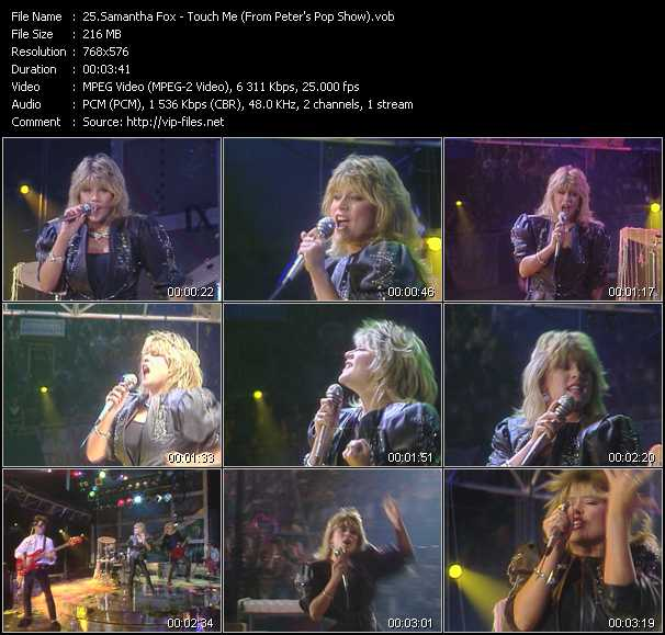 Samantha Fox video - Touch Me (From Peter's Pop Show)