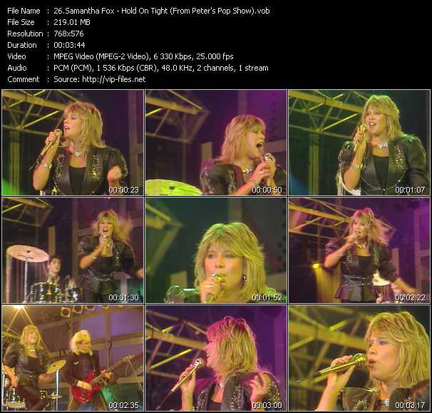 Samantha Fox video - Hold On Tight (From Peter's Pop Show)