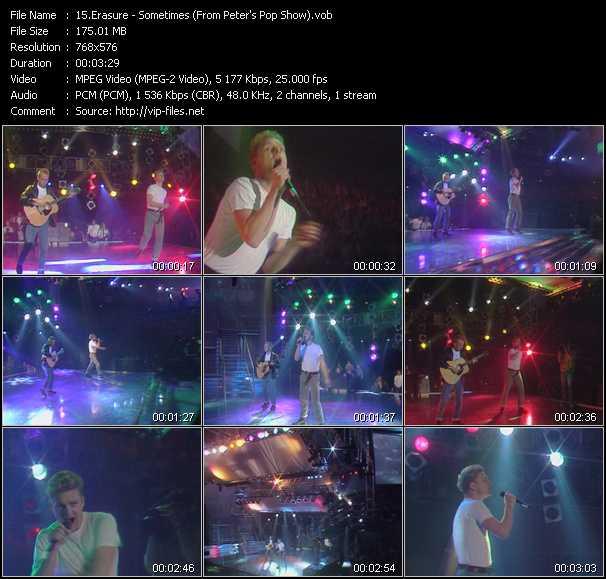 Erasure video - Sometimes (From Peter's Pop Show)