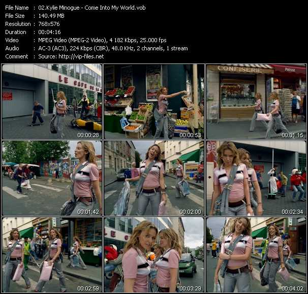 Kylie Minogue video - Come Into My World