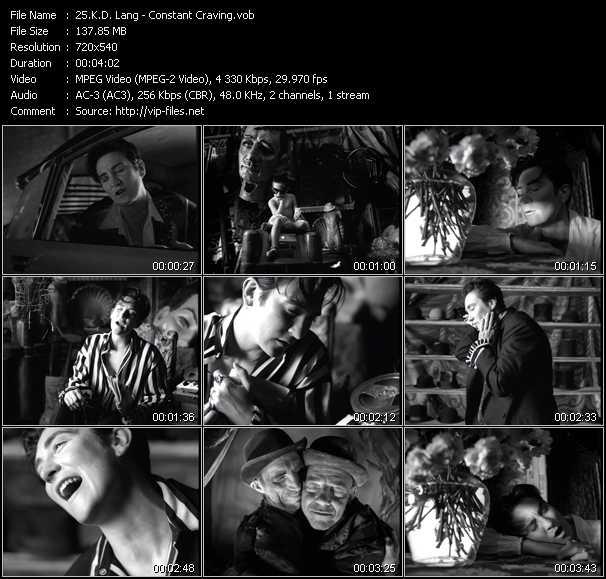 K.D. Lang video - Constant Craving