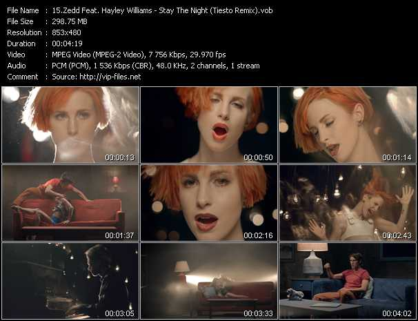 Zedd Feat. Hayley Williams video - Stay The Night (Tiesto Remix)