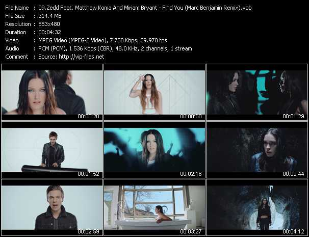 Zedd Feat. Matthew Koma And Miriam Bryant video - Find You (Marc Benjamin Remix)