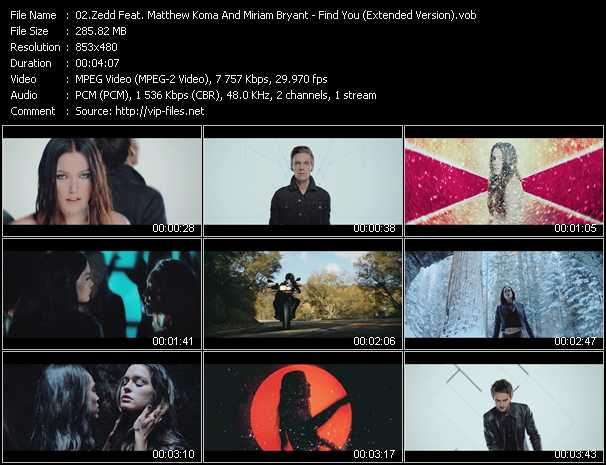 Zedd Feat. Matthew Koma And Miriam Bryant video - Find You (Extended Version)