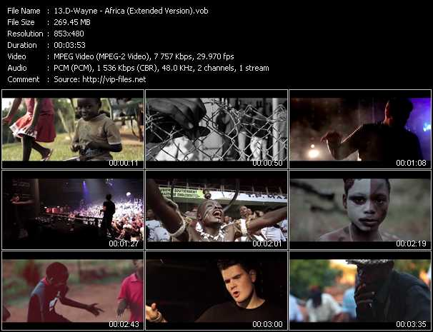 D-Wayne video - Africa (Extended Version)