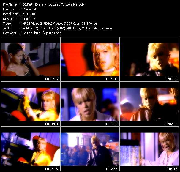 Faith Evans video - You Used To Love Me