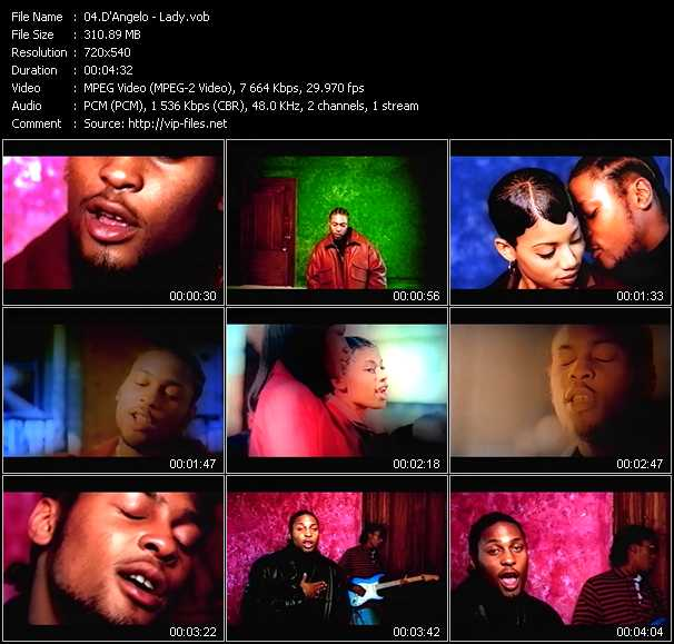 D'Angelo video - Lady