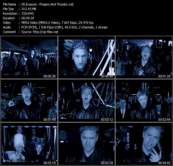Erasure video - Fingers And Thumbs
