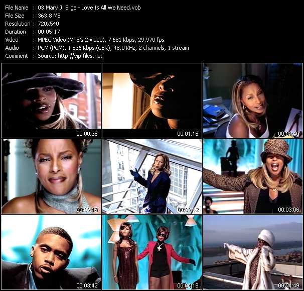 Mary J. Blige video - Love Is All We Need