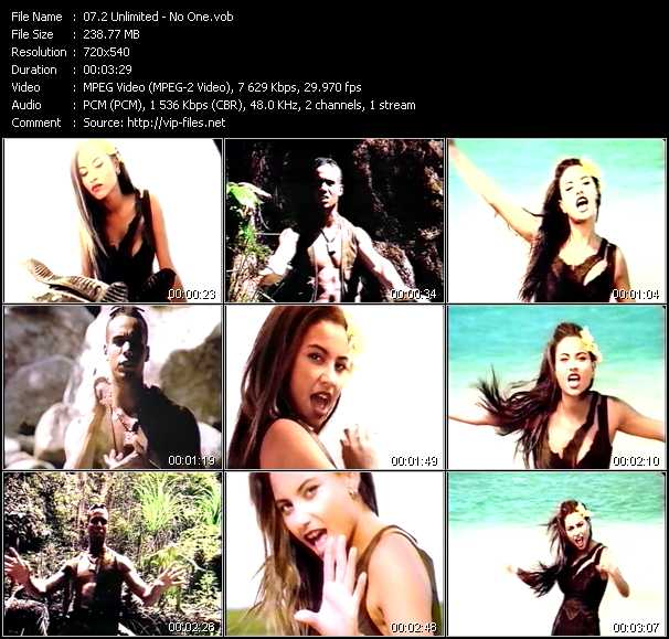 2 Unlimited video - No One