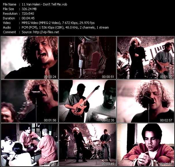Van Halen video - Don't Tell Me