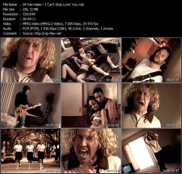 Van Halen video - I Can't Stop Lovin' You