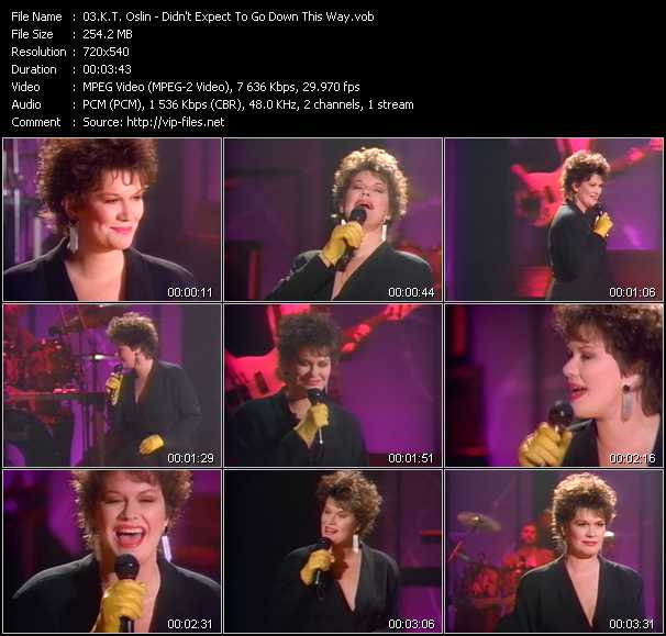 K.T. Oslin video - Didn't Expect To Go Down This Way