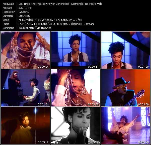 Prince And The New Power Generation video - Diamonds And Pearls