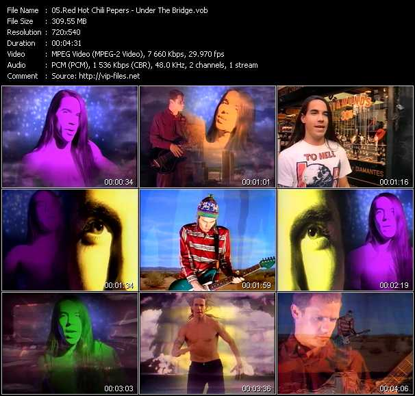 Red Hot Chili Peppers video - Under The Bridge