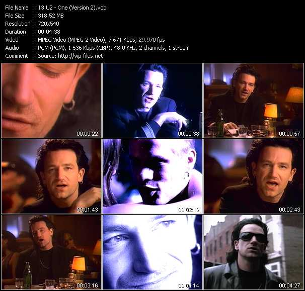 U2 video - One (Version 2)