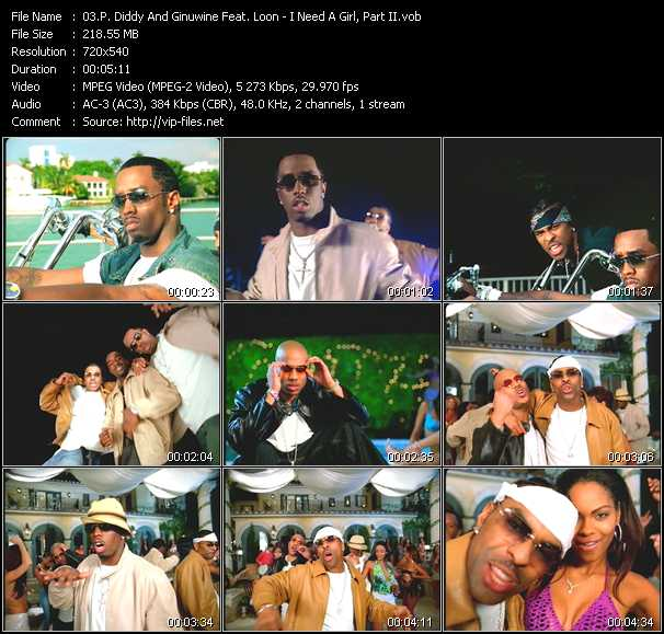 P. Diddy (Puff Daddy) And Ginuwine Feat. Loon video - I Need A Girl, Part II