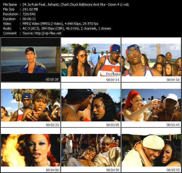 Ja Rule Feat. Ashanti, Charli Chuck Baltimore And Vita video - Down 4 U