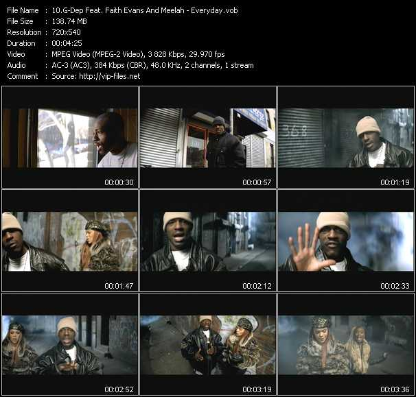 G-Dep Feat. Faith Evans And Meelah video - Everyday