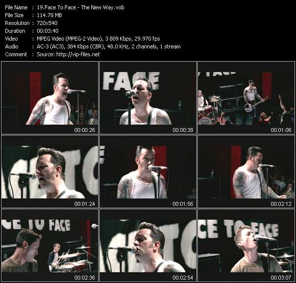 Face To Face music video Publish2
