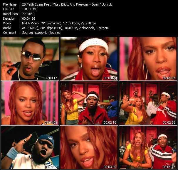Faith Evans Feat. Missy Elliott And Freeway video - Burnin' Up