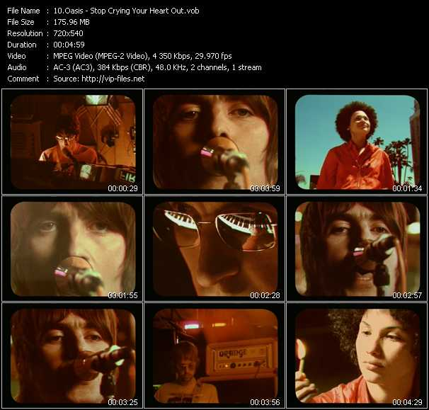 Oasis video - Stop Crying Your Heart Out