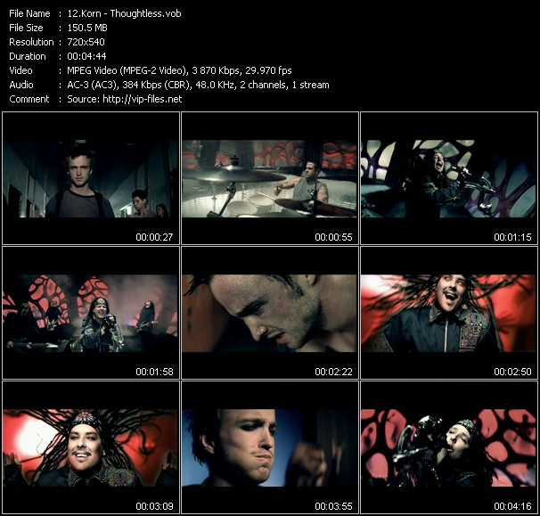 Korn video - Thoughtless
