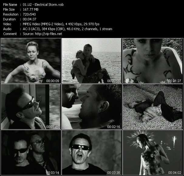 U2 video - Electrical Storm