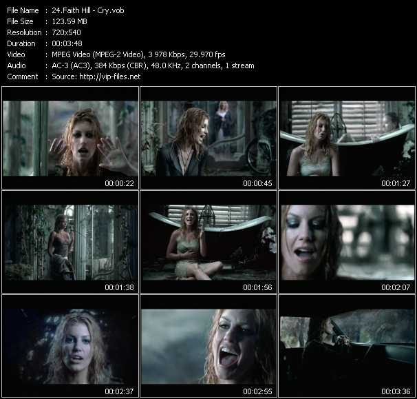 Faith Hill video - Cry