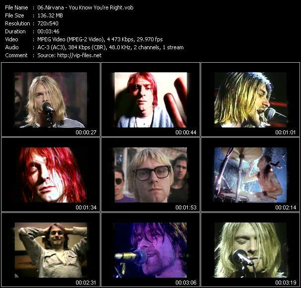 Nirvana video - You Know You're Right