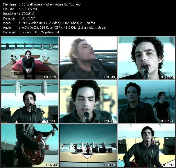 Wallflowers video - When You're On Top