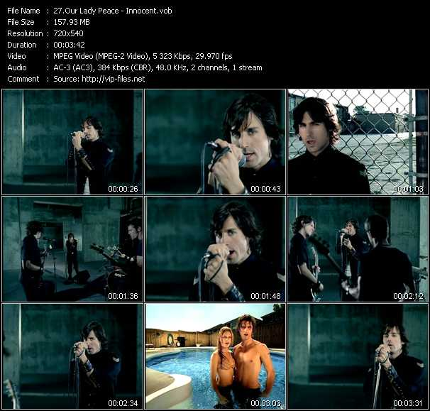 Our Lady Peace video - Innocent