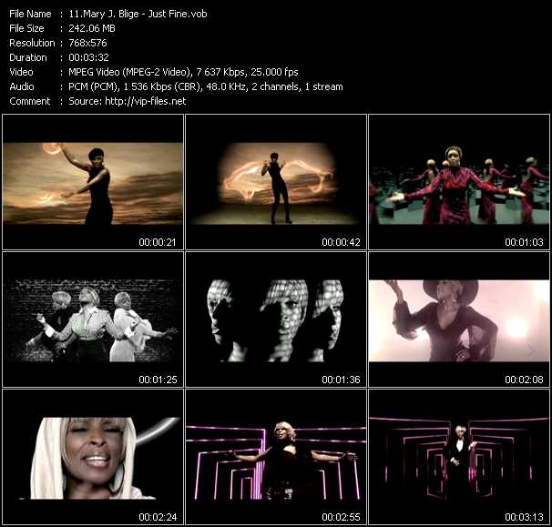 Mary J. Blige video - Just Fine