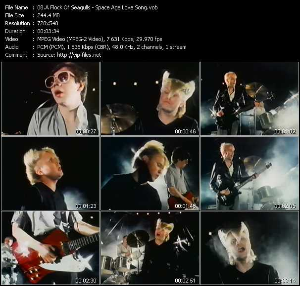 A Flock Of Seagulls video - Space Age Love Song
