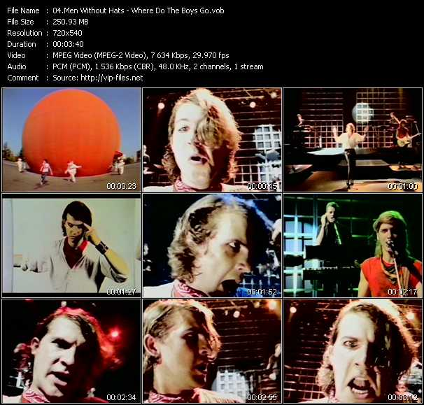 Men Without Hats video - Where Do The Boys Go?