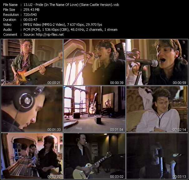 U2 video - Pride (In The Name Of Love) (Slane Castle Version)