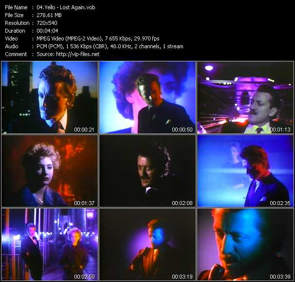 Yello video - Lost Again
