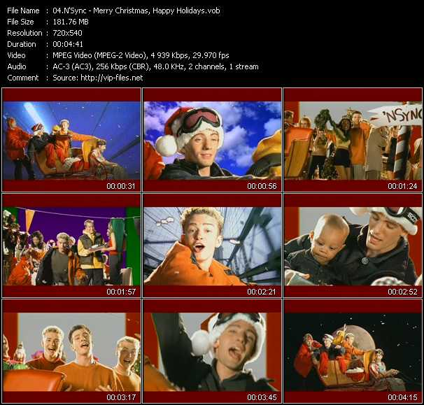 N'Sync video - Merry Christmas, Happy Holidays
