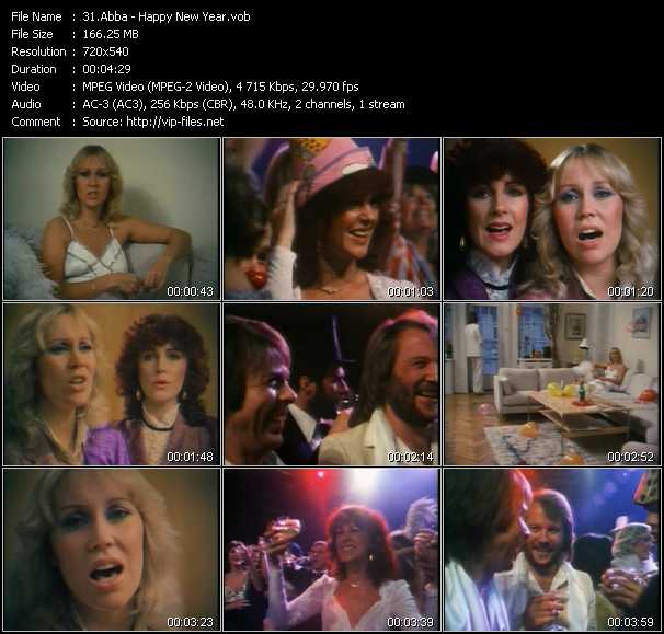 Abba video - Happy New Year