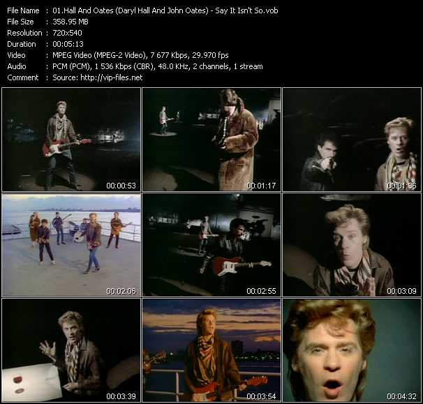 Hall And Oates (Daryl Hall And John Oates) video - Say It Isn't So